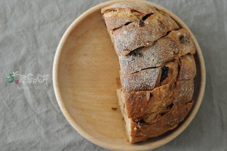 酒釀桂圓大麵包(半顆份量)