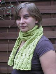 Lace Ribbon Scarf (kekino) Tags: scarf knitting lace knitty