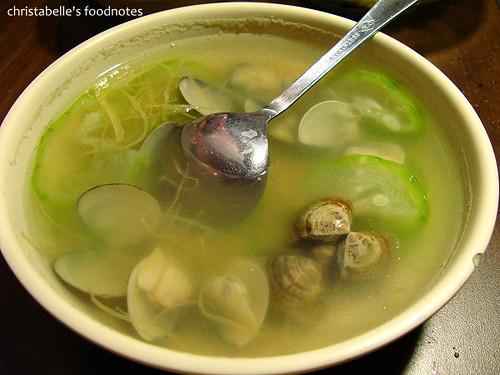 田季發爺燒肉之絲瓜蛤蜊湯