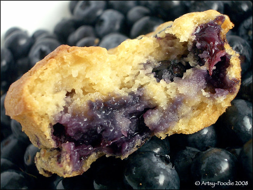 Close Up Orange Blueberry Muffin