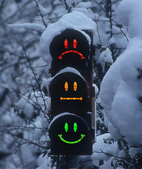 Yes, Maybe or No? (olu) Tags: snow photoshop trafficlight funny no yes humour maybe angelo smileys