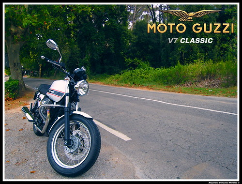 Moto Guzzi V7 Classic artistic
