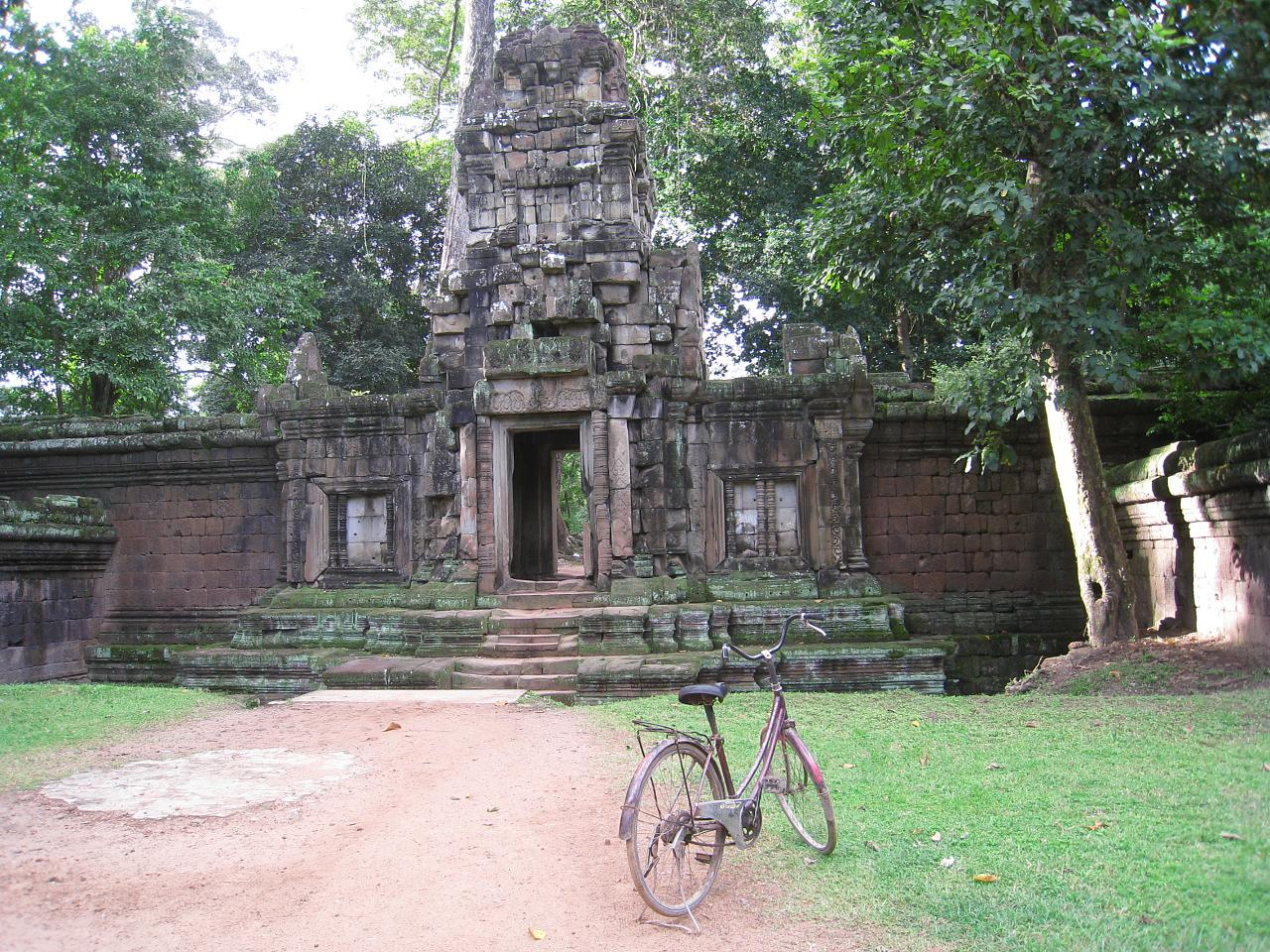Renting a bicycle to visit the temples is a popular option for visitors.