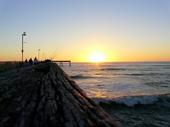 Sunset from Pacifica Pier (*~Dawn~*) Tags: ocean california sunset sky sun pier fishing glow pacific pacifica fiery beautifulsunset pacificapier