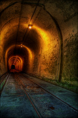 Journey to the end of the night (Nilton Ramos Quoirin) Tags: brazil brasil underground tunnel rails hdr cubatão usinahenryborden journeytotheendofthenight voyageauboutdelanuit