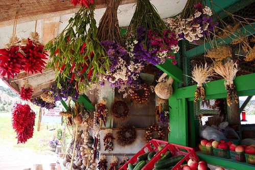 Drying flowers and Chiles