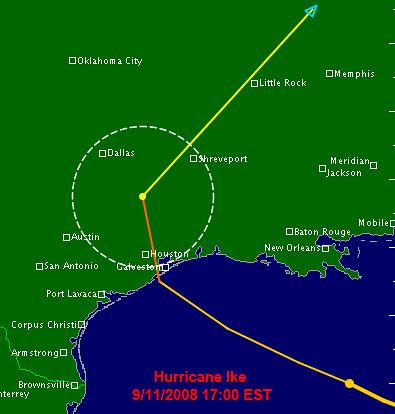 Hurricane Ike 9/11/2008