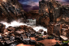i want to break free (Kris Kros) Tags: california ca storm clouds photoshop point photography high nikon bravo perfect rocks waves break arch photographer dynamic ominous free stormy want to range hdr kkg mugu the cs3 firstquality photomatix 5xp i theperfectphotographer kkgallery