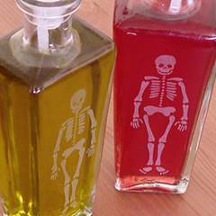 bottle_skeleton_dtl (BreadnBadger) Tags: glass bottles recycled spout oilandvinegar breadandbadger