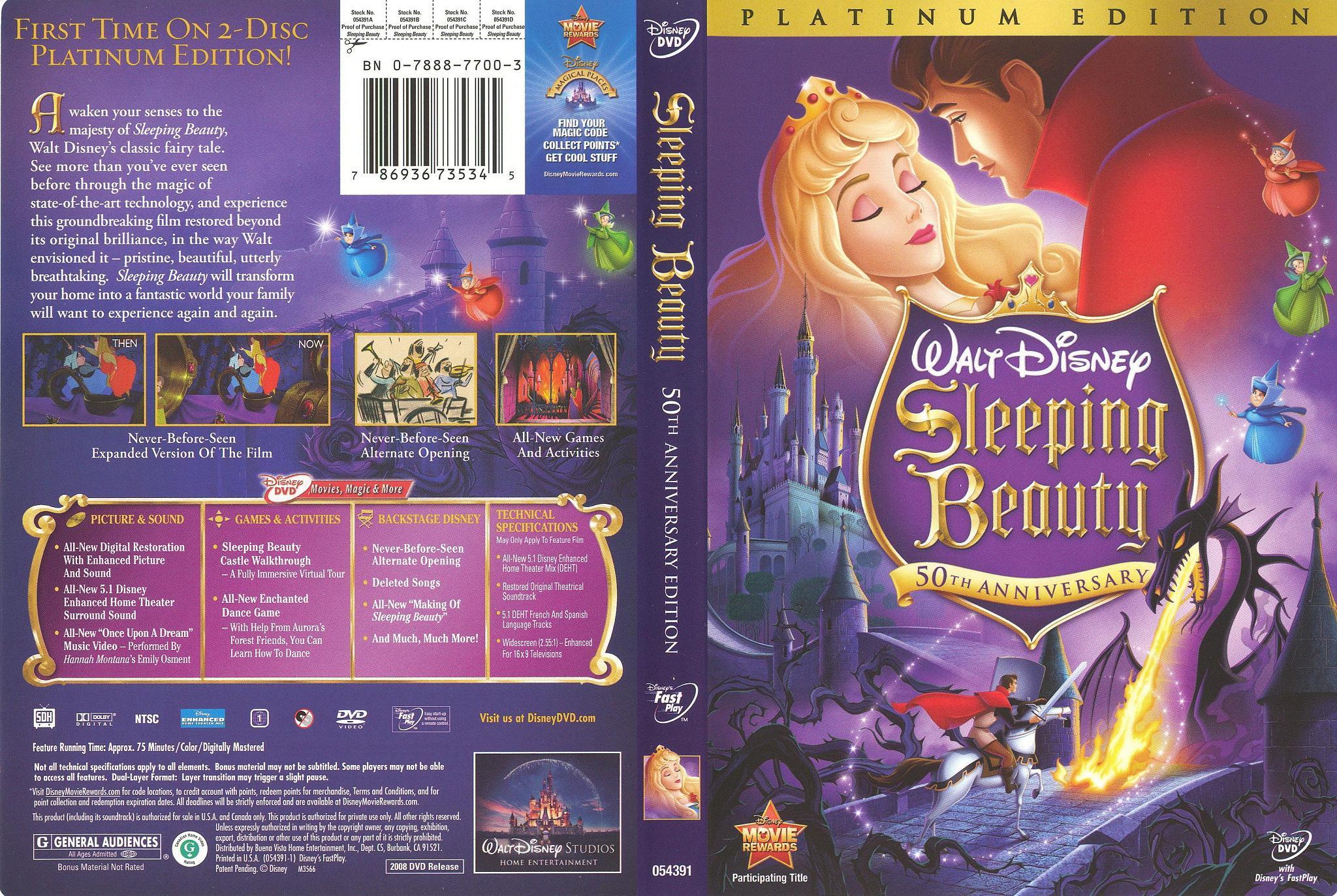 sleeping beauty 50th anniversary edition dvd