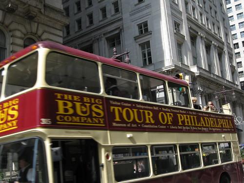 Bus Tour of Philadelphia Double Decker Bus