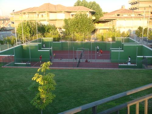 Pistas de tenis en el Hotel Eurostars Zarzuela Park