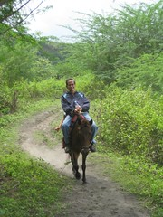 tito Dom on his ride (tbchinte) Tags: horse lake volcano philippines crater laketaal volcaniclake