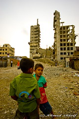 Children of the ruins.......... [Rangs Bhaban destruction site, Tejgaon, Dhaka, Bangladesh] (Ideas_R_Bulletproof) Tags: playing building d50 children nikon ruins destruction structure illegal photowalk ttl dhaka bangladesh deconstruction sigma1020mmf456exdchsm bhaban rangs tejgaon throughthelensbangladesh