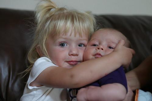 Sophia holds Jack