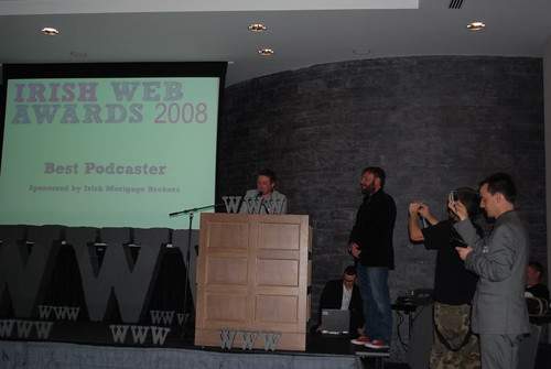 Playlist Mix wins Best Podcast at the 2008 Irish Web Awards