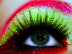 (wisely-chosen) Tags: selfportrait macro eye me october colorful makeup 2008 picnik falseeyelashes drhauschkablackeyelinerpencil drhauschkablackliquideyeliner drhauschkablackmascara manicpanichothotpink coastalscentscrimsonglitterpowder coastalscentslimegreenhologramglitterpowder