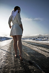 Keep on walking (Maria Kristin Steinsson) Tags: selfportrait snow angel walking barefoot inthemiddleofnowhere mariakristin mariasteinsson mariaksteinsson