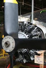 20081019_1189 Engine with test propeller (williewonker) Tags: aircraft engine australia victoria restoration bomber propeller liberator raaf werribee a72 a72176 a72176