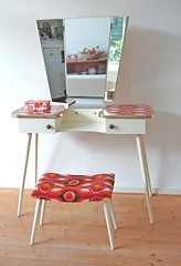 vanity table (ATLITW) Tags: red orange colour vintage table vanity retro eclectic homedecor thrifted