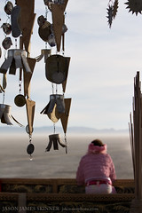 Sunrise at Basura Sagrada (skinr) Tags: blackrockcity foundobjects recycling tincans wwwjskinnerphotocom jasonjamesskinner basurasagrada sacredtrash thetempleatburningman2008theamericandream