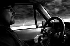 on the way home (Adriaaaaan) Tags: bw blackwhite driving steeringwheel