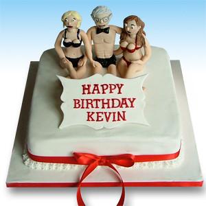 Fabulous Naughty Birthday Cake A Photo On Flickriver Personalised Birthday Cards Epsylily Jamesorg