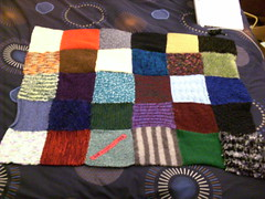 Patchwork blanket, 5 rows (lottiotta) Tags: knitting multicoloured blanket patchwork