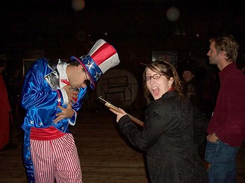 Sarah Palin shoots Uncle Sam