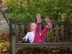 C on the swinging bench