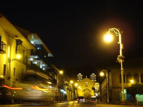 Night time in Cusco, Peru.