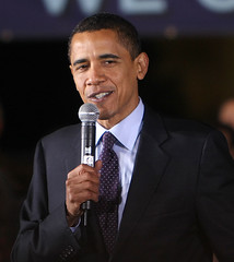 the 44th President of the United States...Barack Obama (jmtimages) Tags: winter portrait history night austin election bravo texas outdoor yes president february friday 2008 speech campaign obama barackobama presidentelectoftheunitedstates