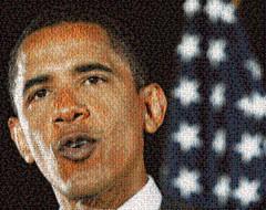 Obama American Flag Mosaic