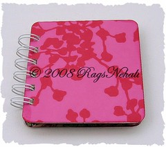 Pink Coriander - Amy Butler Post It Note Holder