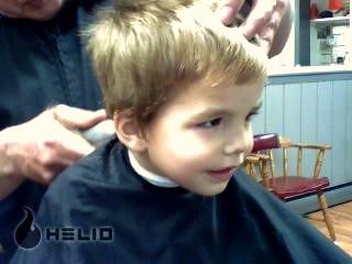 Buster getting a haircut