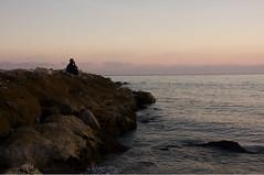 I feel lost in the city (e l l i o t t i n w o n d e r l a n d) Tags: sea beach rock spain think playa malaga infini elliottinwonderland elliottchouraqui