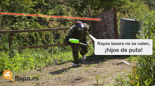 ¡Rayos lasers no se valen!