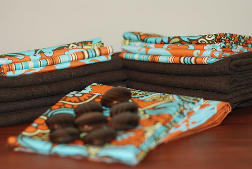 Retro prints and brown organic linen by you.