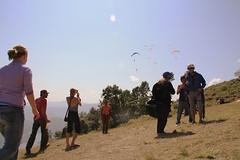Paragliders Galore (sherylchan) Tags: nepal mountainside pokhara paragliders sarangkot