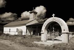 San Juan Nepomuceno (nicholsphotos) Tags: newmexico church manzanos fauxinfrared nicholsphotos