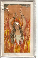 Purgatory Prayer Card SA (*Natalie A*) Tags: red woman southamerica saint yellow cross flames hell kitsch spanish angels shackles virginmary purgatory prayercard wonderclubprojectcatholic