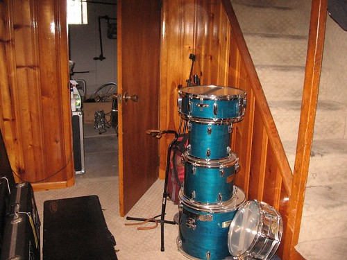 IMG_8782 drums and pine paneling