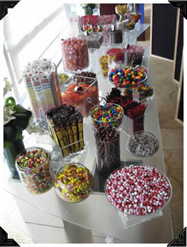 multicolor candy buffet