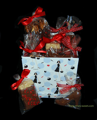 Sassy girl chocolate gift basket
