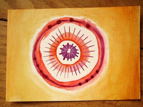 What wonderful paper.... Watercolor mandala