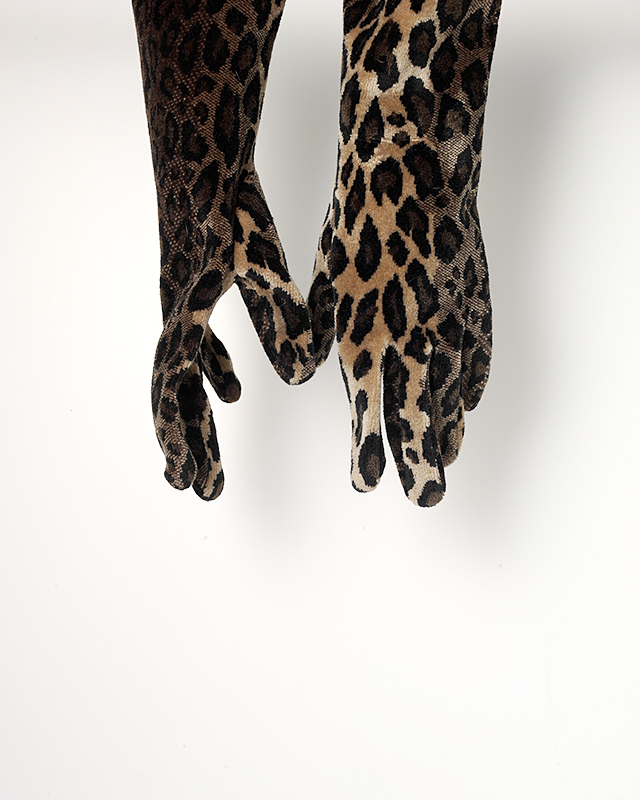 Haunted Leopard Print Gloves Strange Ghost