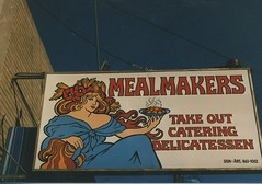 Mealmakers Delicatessen. (Gone.) Berwyn Illinois. March 1987.