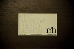 open for business (mikehaskew) Tags: wood mike logo design photo nikon grain business card info contact 18105 d90 haskew