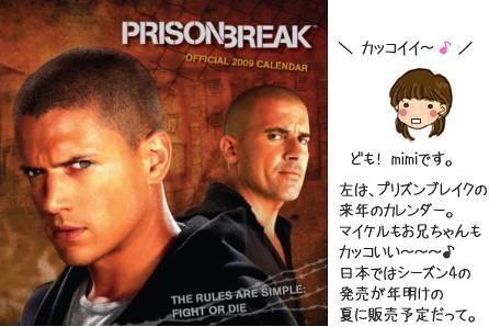 プリズンブレイク カレンダー 2009