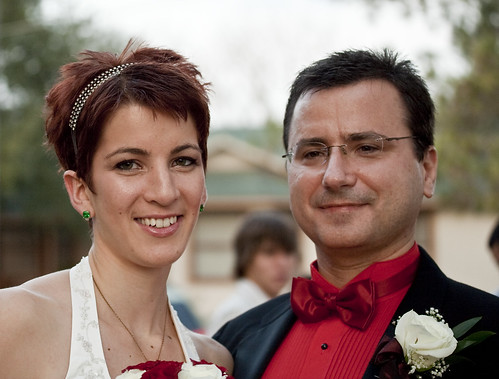 Sarah and Alexander Panchul after their wedding, 2008